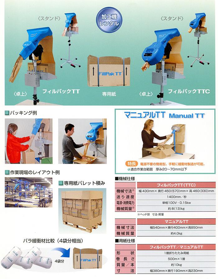 隙間埋め専用の紙製緩衝材FillPakTT/TTC